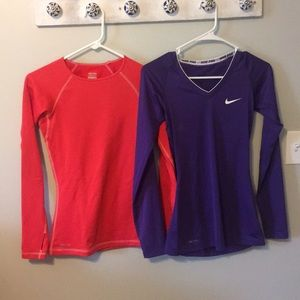 2 Nike long sleeves